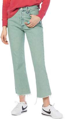 Mother The Tripper High Waist Fray Hem Ankle Jeans