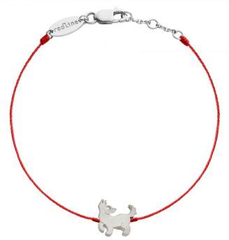 Redline Dog Red Bracelet - White Gold
