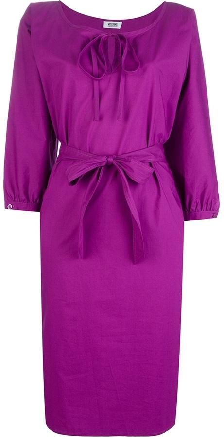 Moschino Cheap & Chic belted tunic dress
