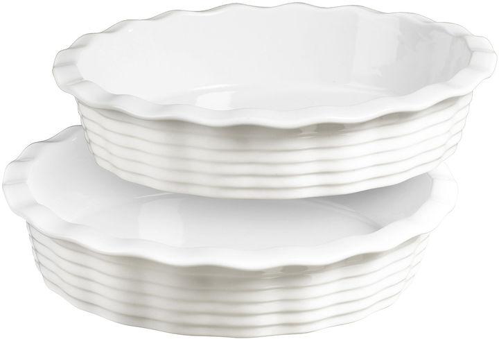 Denmark Set of 2 Porcelain Pie Dishes