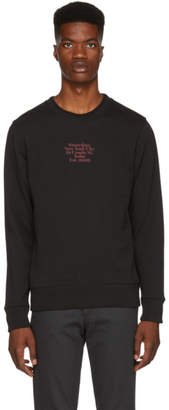 Saturdays NYC Black Bowery Gotham Black Sweatshirt