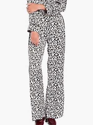 Brooke Animal Print Trousers, Brown/Multi