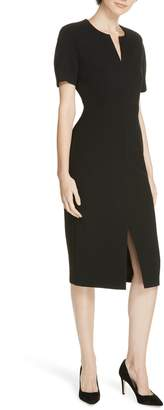 BOSS Darera Short Sleeve Ponte Sheath Dress