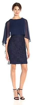 Jessica Howard Women's Capelet Sheath Dress