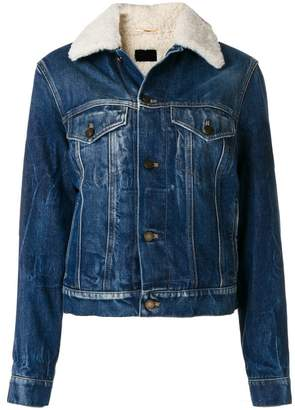 Saint Laurent shearling denim jacket