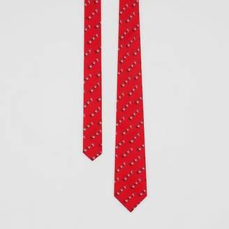 Burberry Modern Cut Archive Logo Print Silk Tie