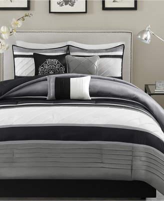 Madison Park Blaire 7-Pc. Faux-Silk King Comforter Set Bedding