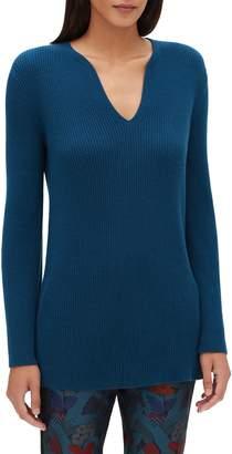 Lafayette 148 New York Rib Cashmere Tunic Sweater