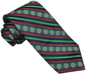 Asstd National Brand Hallmark Snowflake Striped Tie - Extra Long