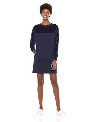 Lacoste Women's Long Sleeve Zippered Collar Velvet Dress
