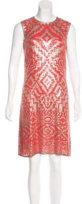 Naeem Khan Sequined Silk Dress