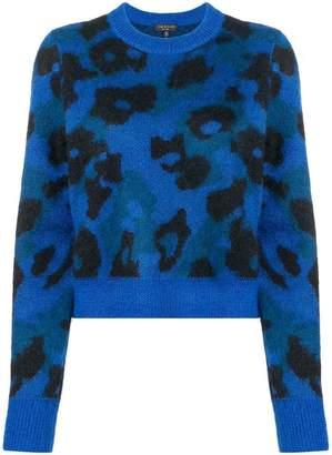 Rag & Bone cow pattern knitted sweatshirt