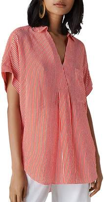 Whistles Lea Striped Shirt
