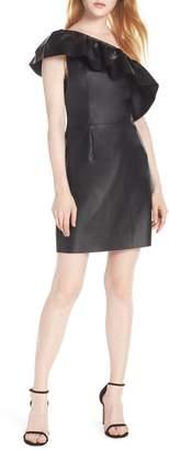 BB Dakota One-Shoulder Faux Leather Dress