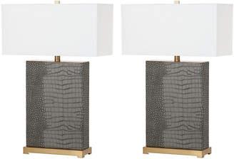 Safavieh Joyce Rectangular Table Lamps, Set of 2