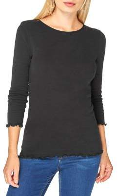 Dorothy Perkins Ruffle-Trimmed Cotton Tee