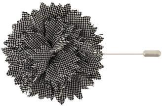 Lanvin dogtooth flower brooch