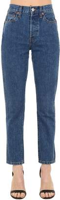 RE/DONE Re Done Double Needle Skinny Cropped Denim Jeans