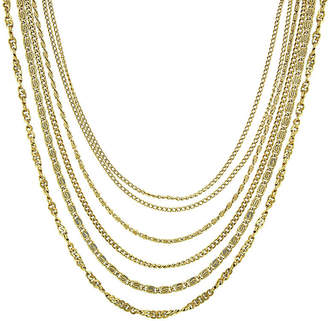 1928 Jewelry 1928 Gold-Tone Multi-Row Layered Necklace