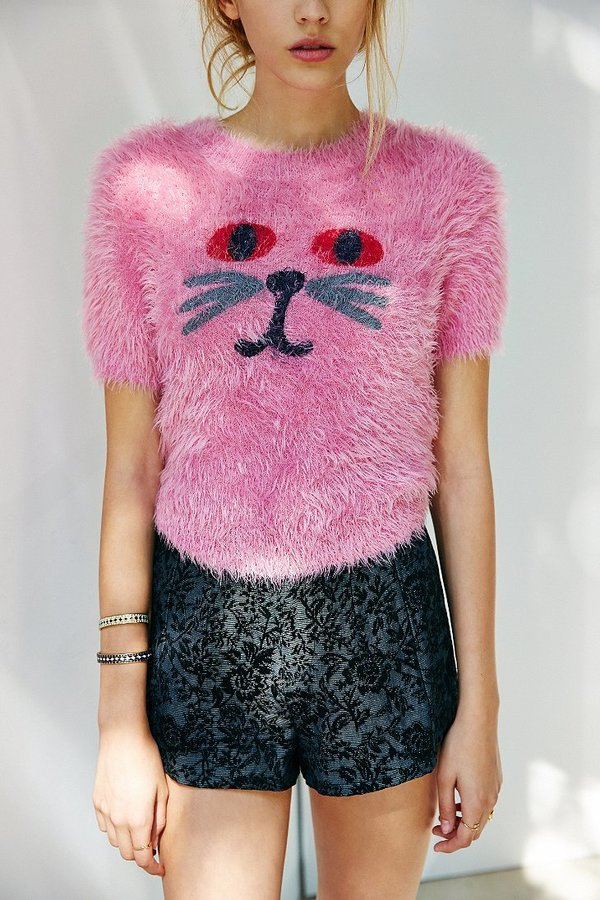 Urban Outfitters Lazy Oaf Fluffy Kitty Sweater