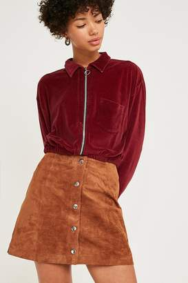 Urban Outfitters Jonie Tan Suede Mini Skirt