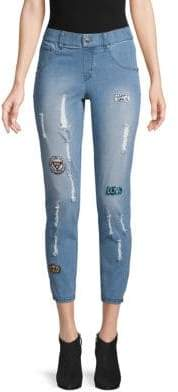 Hue Patched Distressed Jeans