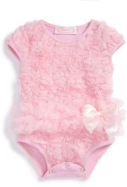 Popatu Soutache Floral Bodysuit (Baby Girls)
