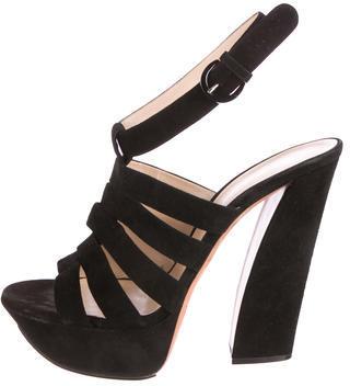 Casadei Suede Platform Sandals $175 thestylecure.com