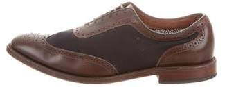 Allen Edmonds Leather & Canvas Wingtip Brogues