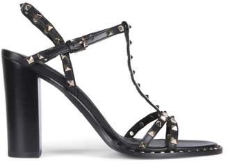 Ash Lips Black Leather Studded Sandals