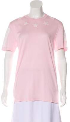 Givenchy Embroidered Short Sleeve Top
