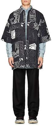 Balenciaga Men's Abstract-Print Short-Sleeve Shirt Jacket