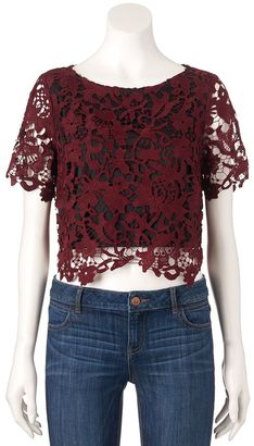 Women's Jennifer Lopez Lace Crop Top $60 thestylecure.com