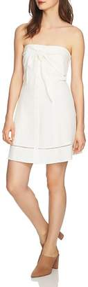 1 STATE 1.STATE Tie-Front Strapless Dress