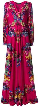 Etro flower print long dress