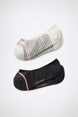 Witchery Stripe Loafer Sock