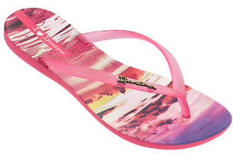 Ipanema Tropical-Print Flip Flops