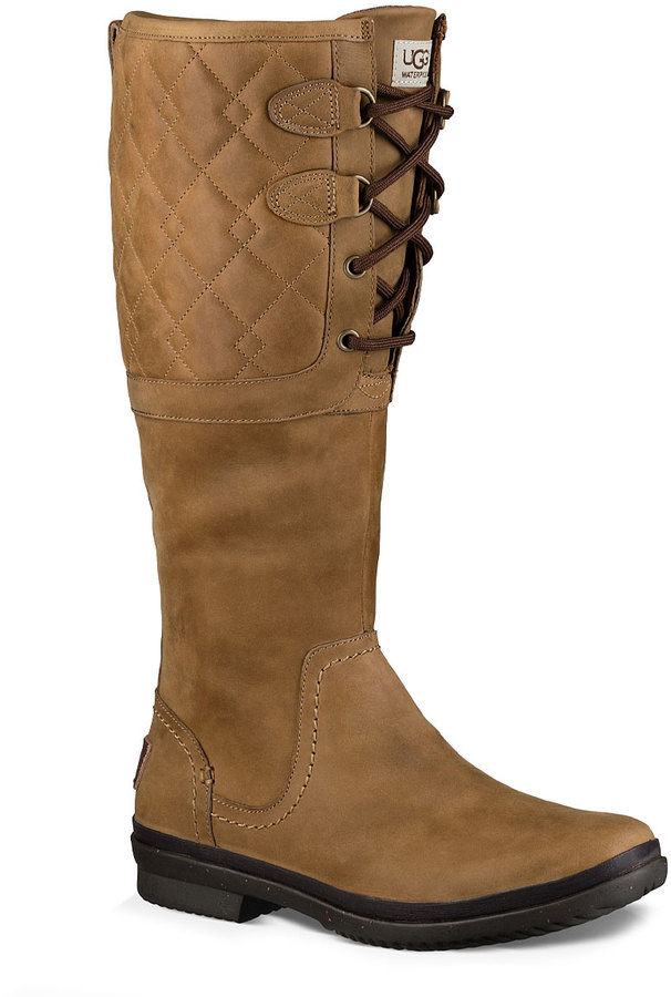 UGG Chestnut Elsa Deco Quilted Leather Boot - Women