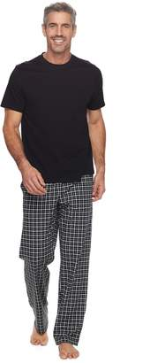 Croft & Barrow Men's True Comfort Solid Tee & Printed Pants Sleep Set