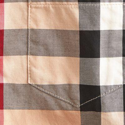 Burberry Check Cotton Button-down Shirt 16