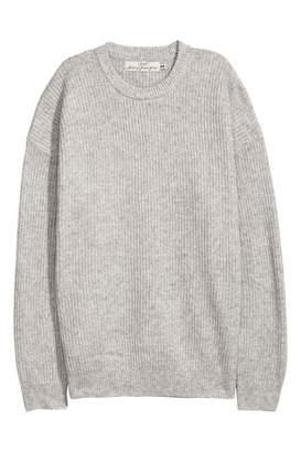 H&M Oversized Sweater - Gray melange - Men