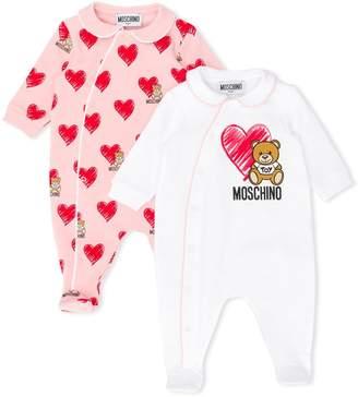 Moschino Kids heart logo babygrow