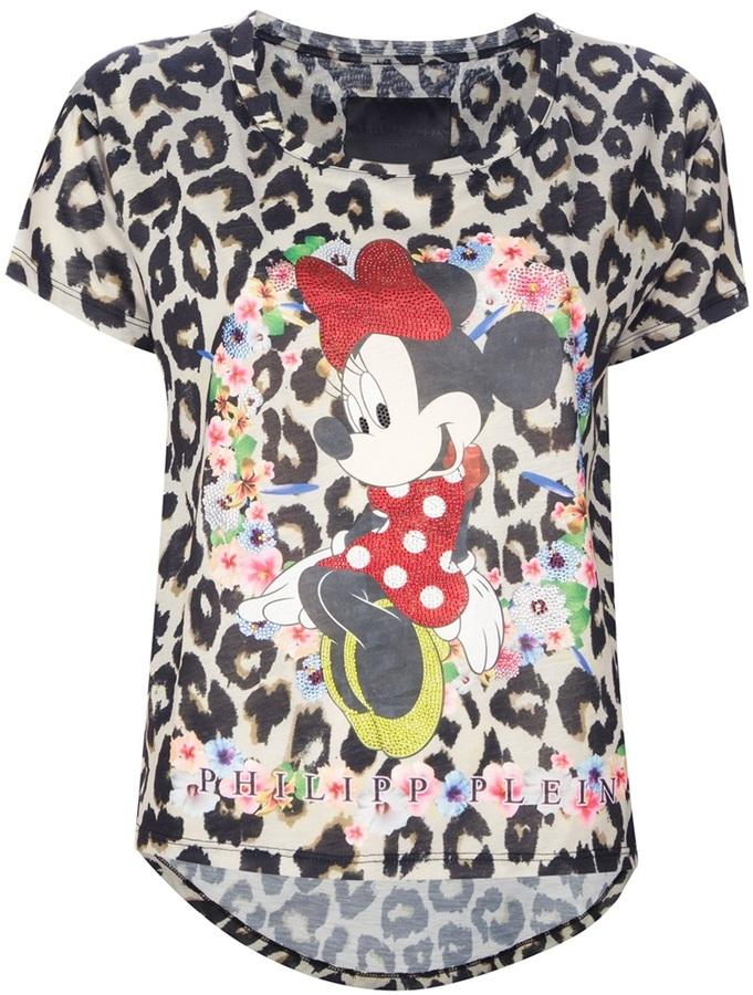 Philipp Plein printed leopard print t-shirt