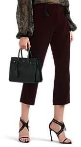 Saint Laurent Women's Velvet Crop Kickback Trousers - Wine