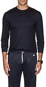 Barneys New York Men's Wool Long-Sleeve T-Shirt - Navy