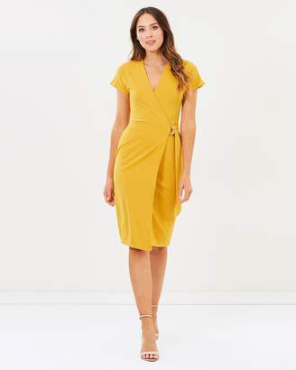 Dorothy Perkins Short Sleeve Ring Wrap Dress