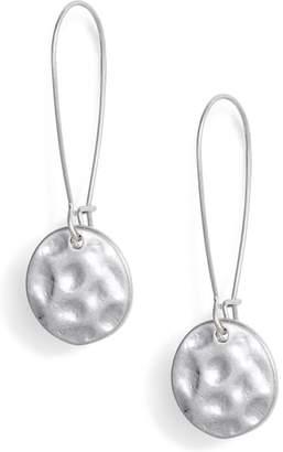 Treasure & Bond Organic Disc Threaded Drop Earrings