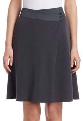 Emporio Armani Wrap-Effect A-Line Skirt
