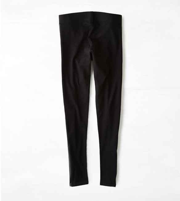 American Eagle AEO Faux Leather Tuxedo Stripe Legging
