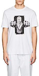 "Neil Barrett Men's ""Boxing Brutus"" Cotton Jersey T-Shirt - White"